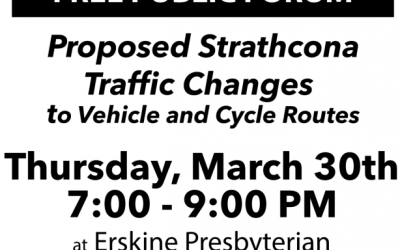 Public Meeting – Proposed Strathcona Traffic Changes