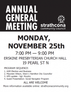 Strathcona Community Council – 2019 AGM