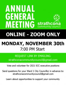 Strathcona Community Council AGM 2020