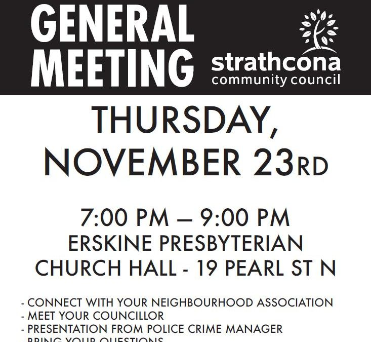 Strathcona Community Council AGM