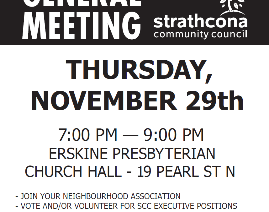 Strathcona Community Council – 2018 Annual General Meeting